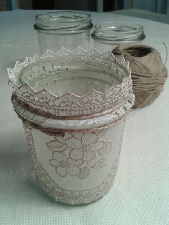 Romantici portacandele shabby chic… fai da te!  Vintage & Shabby Chic by...